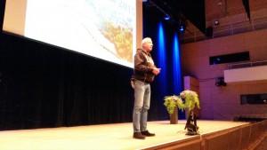 Bo Frank, kommunalråd betonade vikten av att upprätthålla en god vattenkvalitet i Växjö-sjöarna