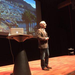 Som avslutning drog Martin Falklind en gastkramande fiskehistoria om den gamle och havet.
